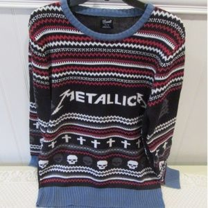 heavy metal metallica ugly christmas sweater xl - Metal Christmas Sweater